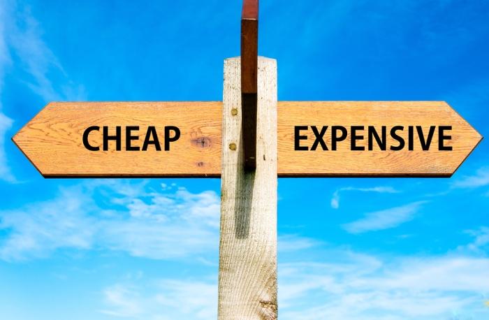 Cheap versus Expensive messages